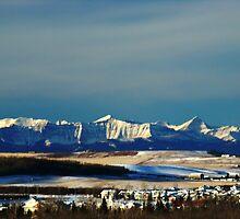 Snowy Rockies by Al Bourassa