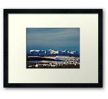 Snowy Rockies Framed Print