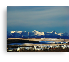 Snowy Rockies Canvas Print
