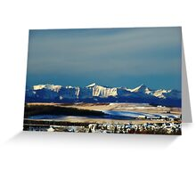 Snowy Rockies Greeting Card