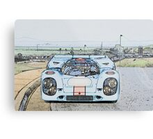 1967 Porsche 911 917K Illustration  Metal Print
