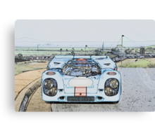 1967 Porsche 911 917K Illustration  Canvas Print