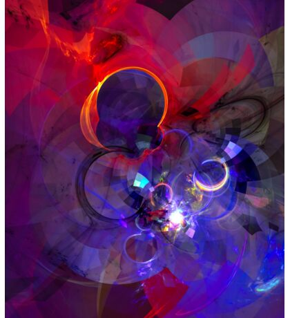 Echoes - Cool Dark Purple Orange Black And Pink Fantasy Abstract Art   Sticker