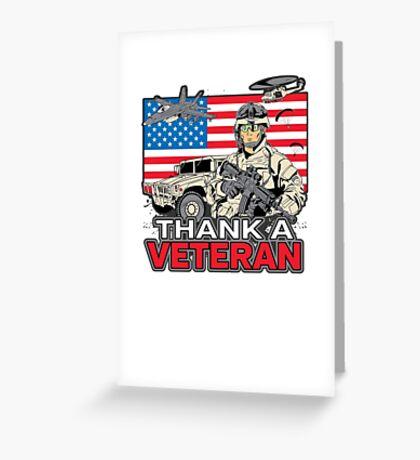 Enjoy Freedom? Thank A Veteran Military Greeting Card