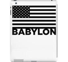 BABYLON FLAG BLK iPad Case/Skin