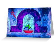 Night Sail Greeting Card