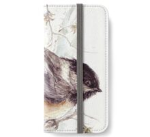 Black Capped Chickadee Resting on the Fall Branches iPhone Wallet/Case/Skin