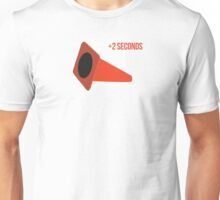 Autocross cone down, +2 seconds Unisex T-Shirt