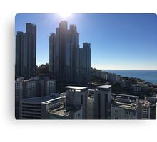 Afternoon on a clear day by the sea in Haeundae, Busan, South Korea Canvas Print