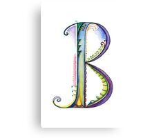The Letter B Canvas Print