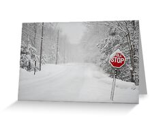 Snowy Stop Greeting Card