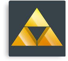 Zelda Triforce 3D Canvas Print