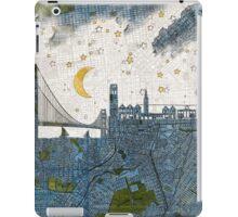 San Francisco skyline old map iPad Case/Skin