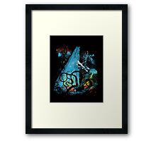 diving danger Framed Print
