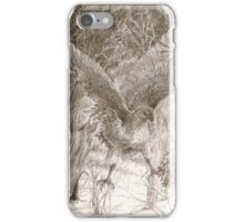 Hawk Making a Landing iPhone Case/Skin