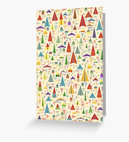 Paper Airplane 60 Greeting Card