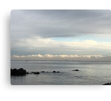 Low clouds over the sea at Bay266, Dongbaek, South Korea Canvas Print