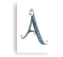 The Letter A, Cursive Canvas Print