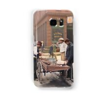 Clam seller on Mulberry Bend, New York, ca 1900 Samsung Galaxy Case/Skin