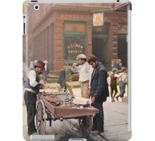 Clam seller on Mulberry Bend, New York, ca 1900 iPad Case/Skin
