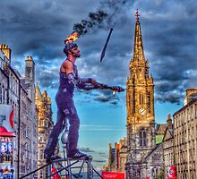 Street Artst Edinburgh Festival by weecritter