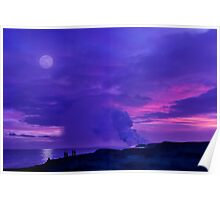 Lavender Moon over Kalapana Poster