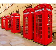 London Telephone Boxes Photographic Print