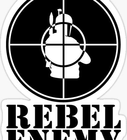 Rebel Enemy Black Sticker
