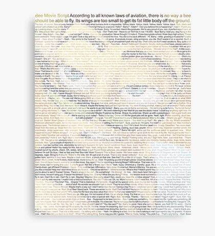 Bee Movie Script (you can read it: Check Description For Details) Canvas Print