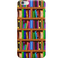 Library Bookshelf Background Pattern for Readers iPhone Case/Skin