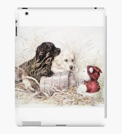 Two Labs and a Teddy iPad Case/Skin