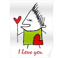 I love you - heart Poster