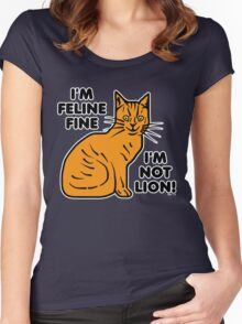 Funny Cat Pun Humor Women's Fitted Scoop T-Shirt
