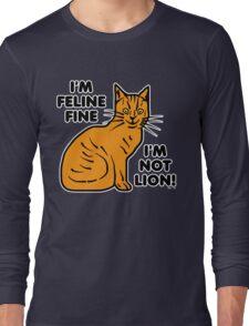 Funny Cat Pun Humor Long Sleeve T-Shirt