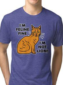 Funny Cat Pun Humor Tri-blend T-Shirt
