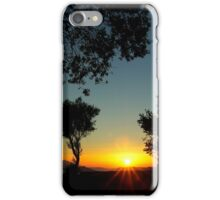 Sunset behind the trees ~ 1 iPhone Case/Skin