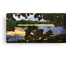 Vincent and I at the Lake Canvas Print