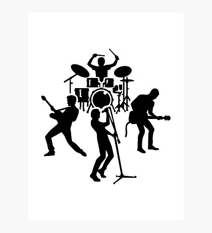 Band drummer guitarist singer Photographic Print