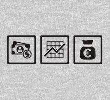 Banker finance symbols Kids Clothes