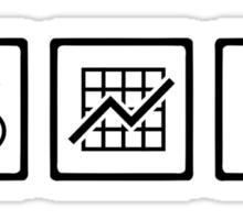Banker finance symbols Sticker