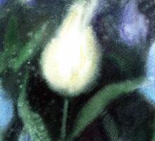 White Tulips Watercolor  Sticker