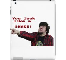 JonTron: YOU LOOK LIKE A SNAKE!  iPad Case/Skin