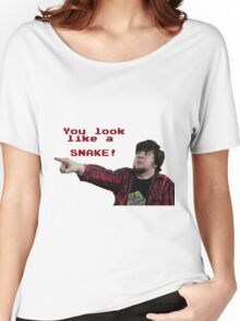 JonTron: YOU LOOK LIKE A SNAKE!  Women's Relaxed Fit T-Shirt