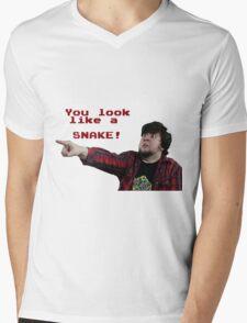 JonTron: YOU LOOK LIKE A SNAKE!  Mens V-Neck T-Shirt