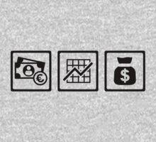 Banker finance logos Kids Clothes