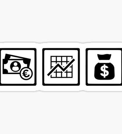 Banker finance logos Sticker