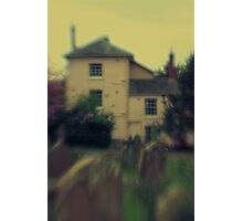 pink house by the cemetery Photographic Print