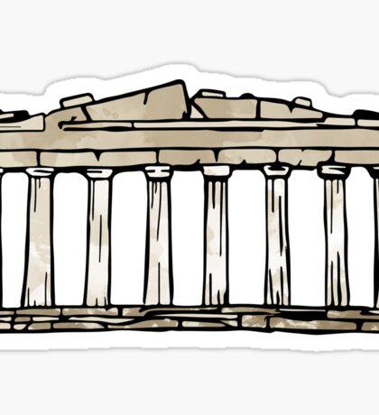 Greek Parthenon Sticker Sticker