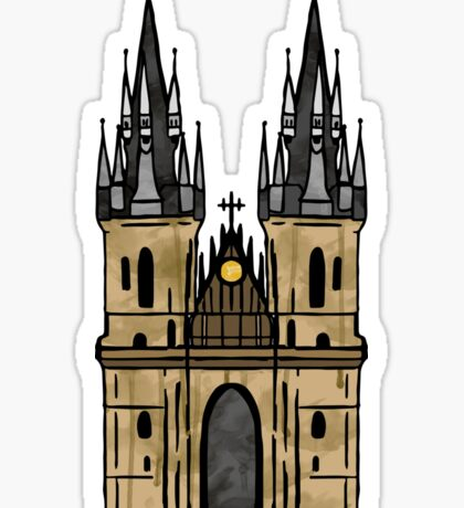 Prague Church Sticker Sticker