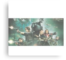 Star Wars Rogue One Characters Canvas Print